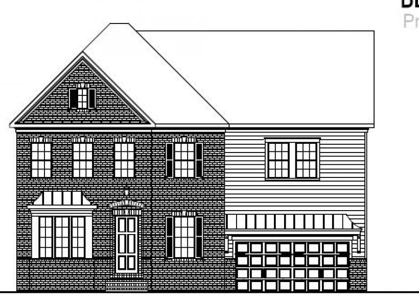 The Berkshire at Amberly, Cary - Elevation A
