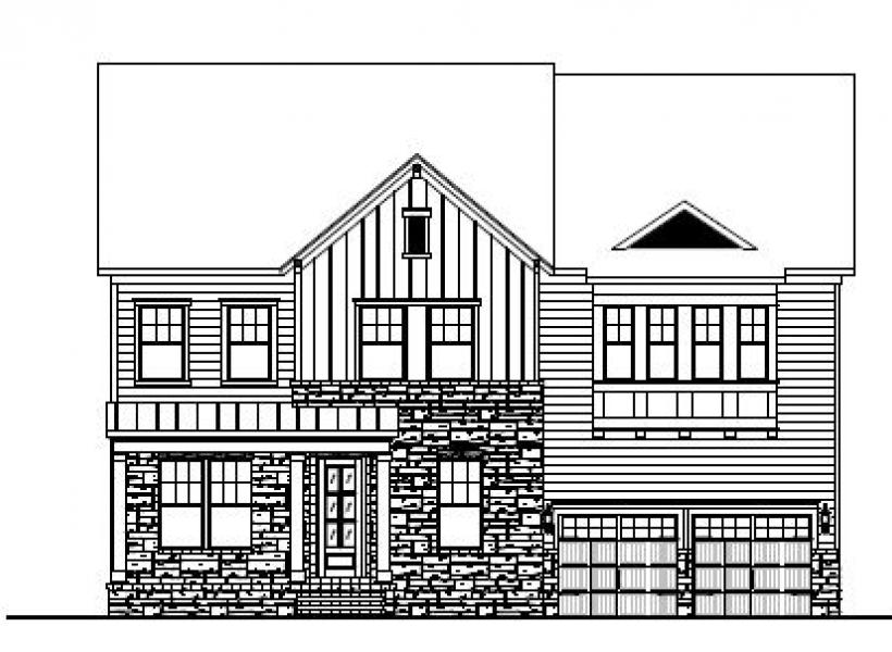 The Berkshire at Amberly, Cary - Elevation B