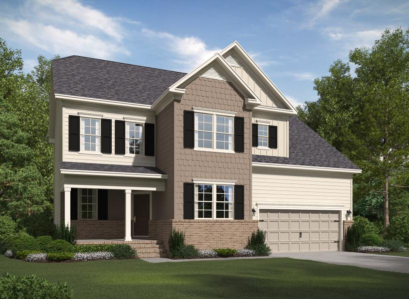 The Dillon at Kildaire Crossing, Cary - Elevation A