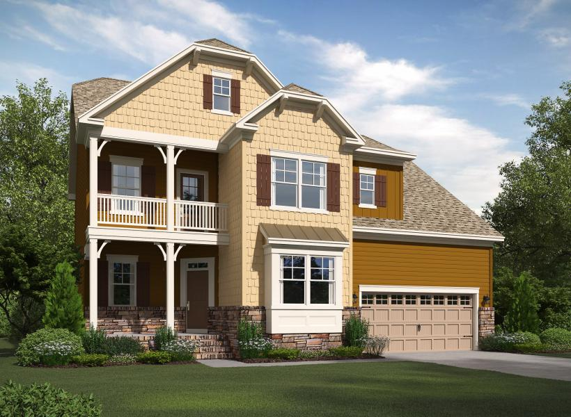 The Dillon at Kildaire Crossing, Cary - Elevation C