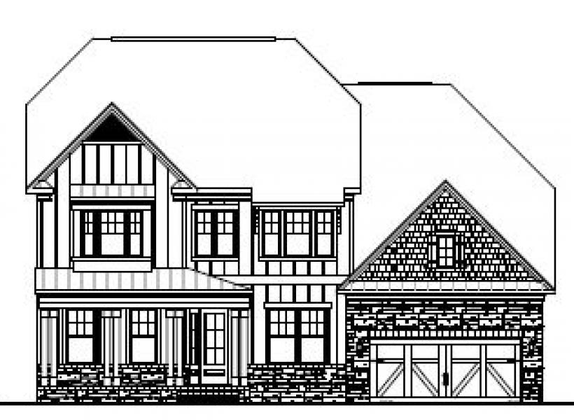 The Hanover at Pinebrook Hills, Raleigh - Elevation F