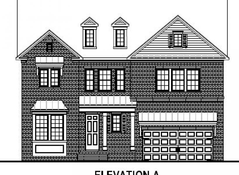 The Bentley at Amberly Estates, Cary - Elevation A