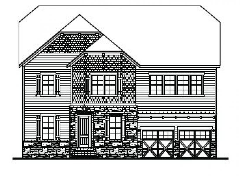 The Wentworth at Amberly, Cary - Elevation C