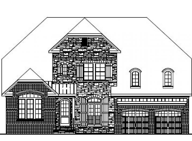 The Wesley at Pinebrook Hills, Raleigh - Elevation B