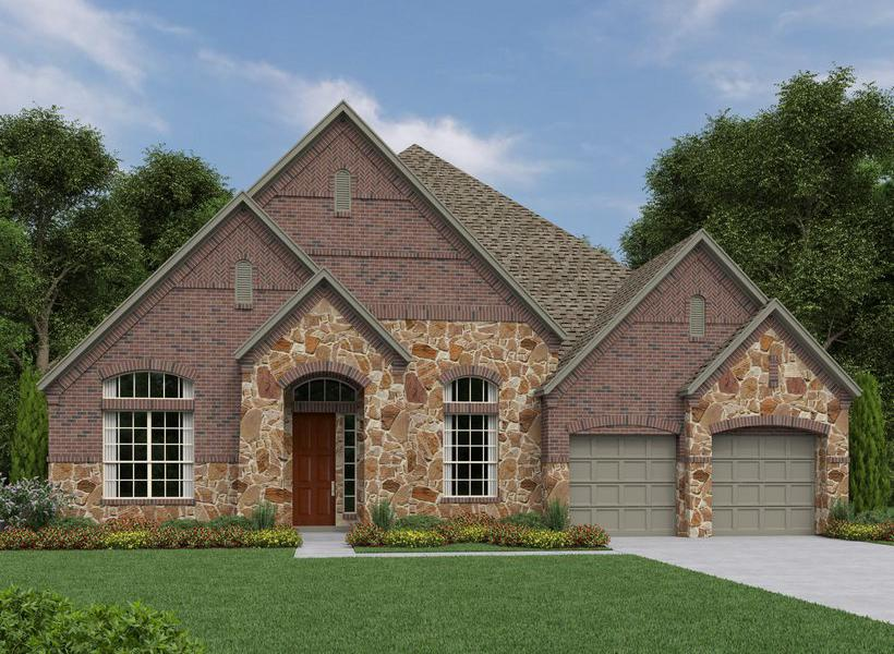 Avalon New Home Plan For Trinity Falls 70FT Community In