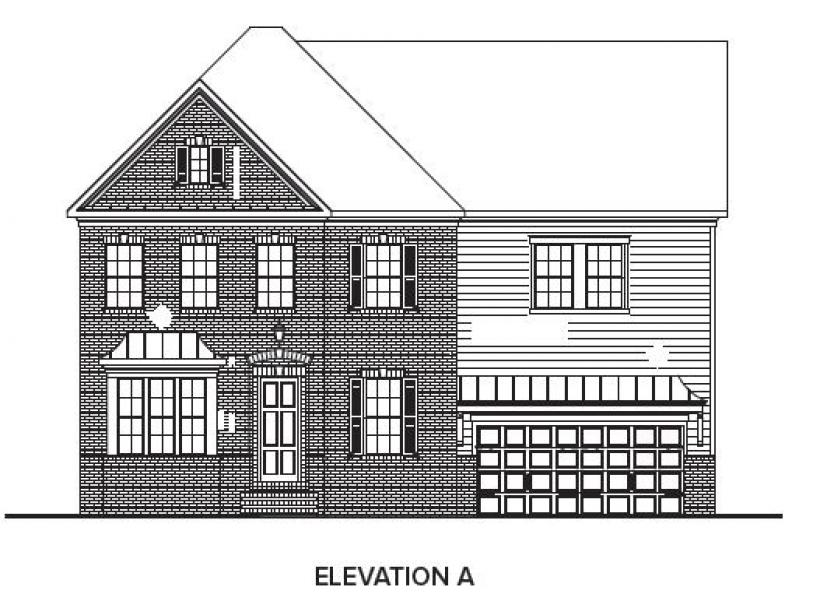 The Berkshire at Braemore, Cary - Elevation A