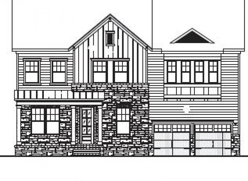 The Berkshire at Braemore, Cary - Elevation B