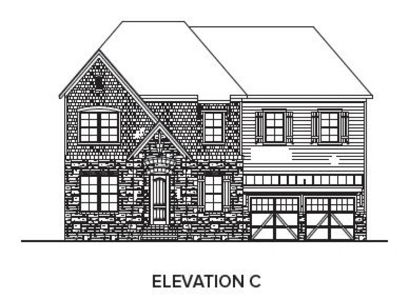 The Berkshire at Braemore, Cary - Elevation C