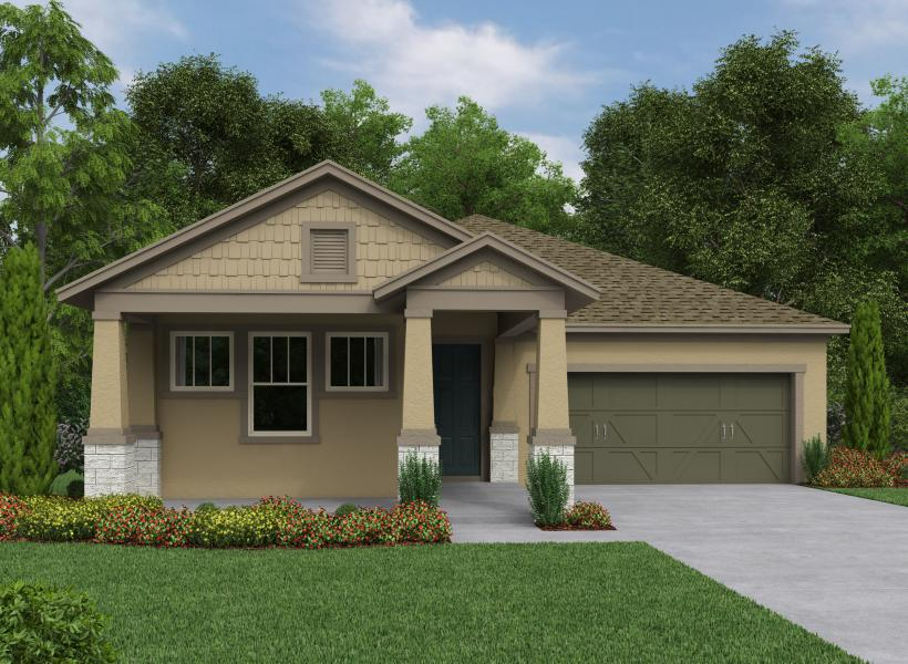 Gaspar New Home Plan For Waterset Classic Community In