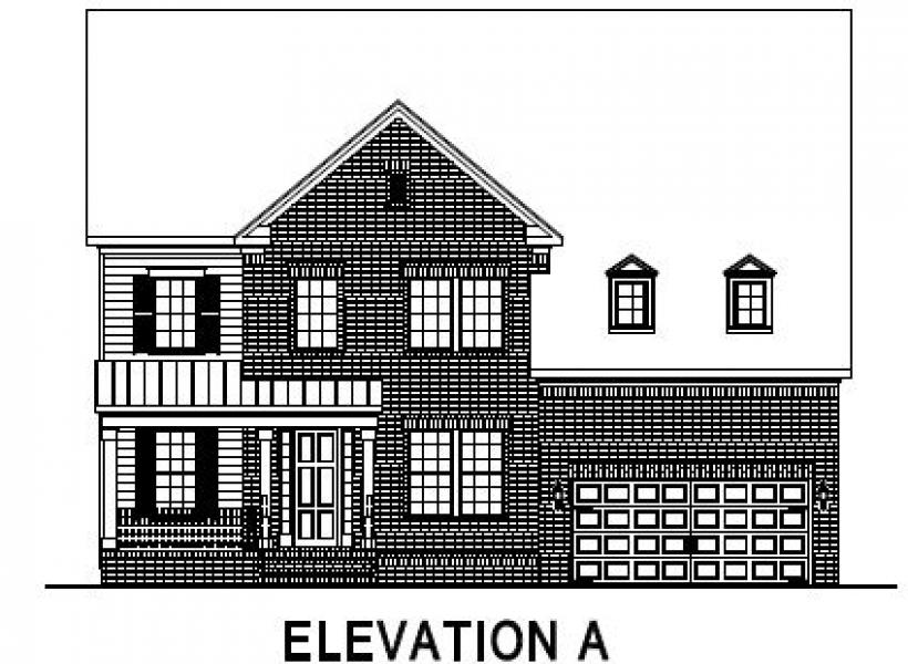 The Greenville at Pinebrook Hills, Raleigh - Elevation A