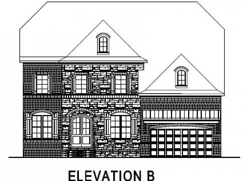 The Greenville at Pinebrook Hills, Raleigh - Elevation B