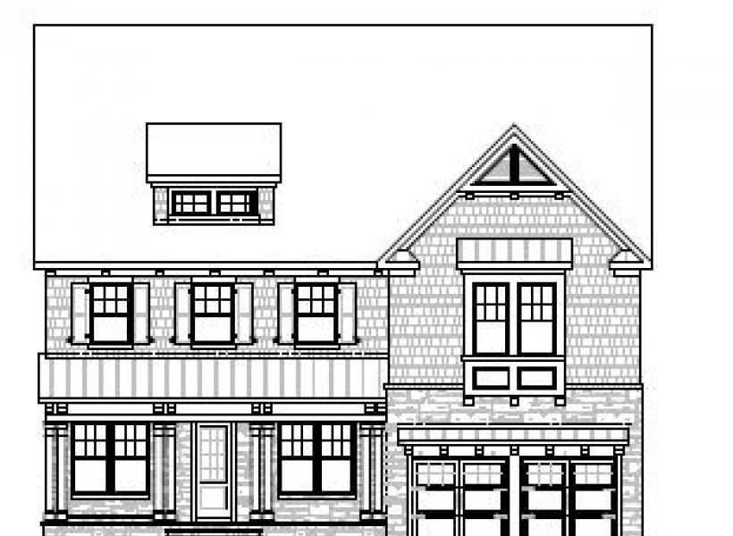 The Greenwood at Braemore, Cary - Elevation A