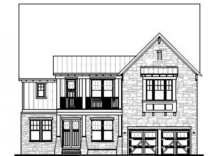 The Greenwood at Braemore, Cary - Elevation B