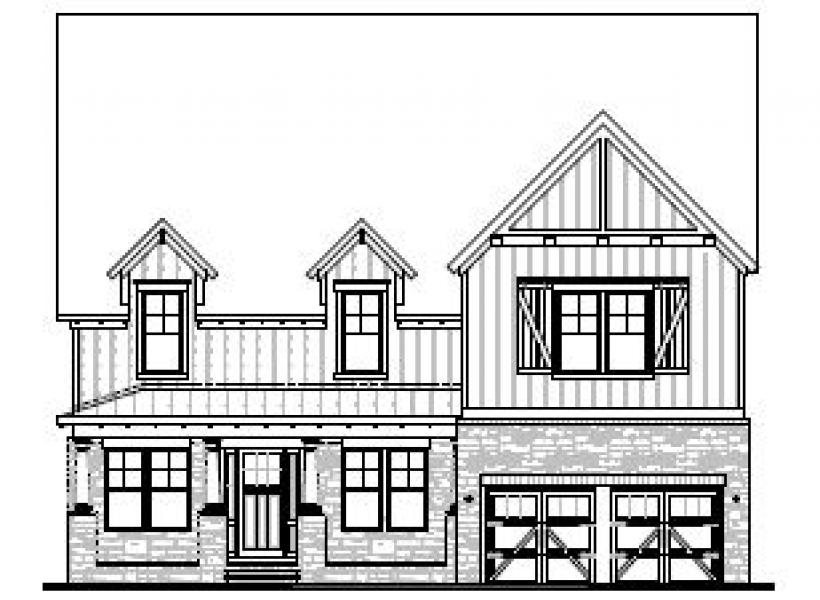 The Greenwood at Braemore, Cary - Elevation C