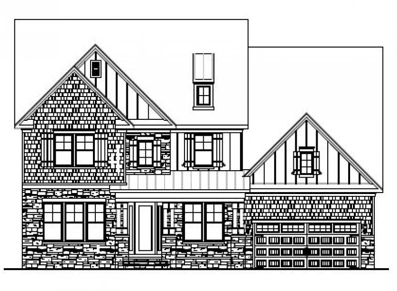 The Hanover at Pinebrook Hills, Raleigh - Elevation C
