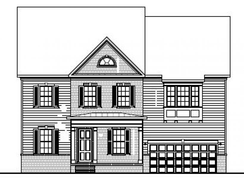 The Hastings at Braemore, Cary - Elevation A