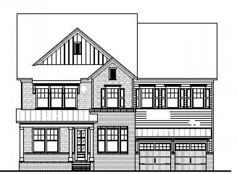 The Hastings at Braemore, Cary - Elevation B