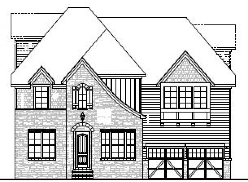 The Hastings at Braemore, Cary - Elevation C