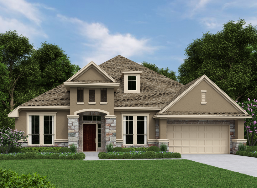Avalon new home plan for woodcreek reserve community in for Houston house elevation