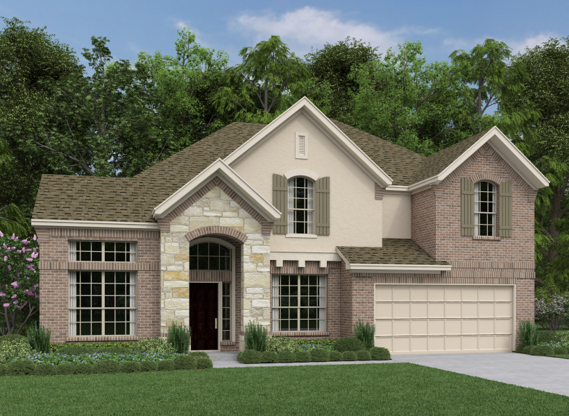Bethany new home plan for aliana community in houston for Houston house elevation