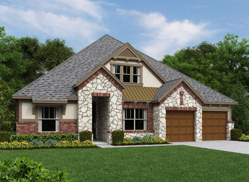 Parker New Home Plan For Trinity Falls 60ft Community In
