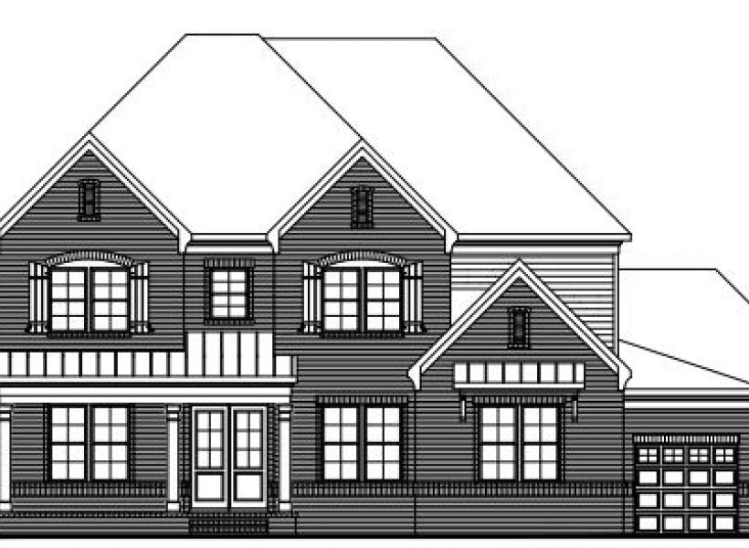 The Jefferson at Braemore, Cary - Elevation A