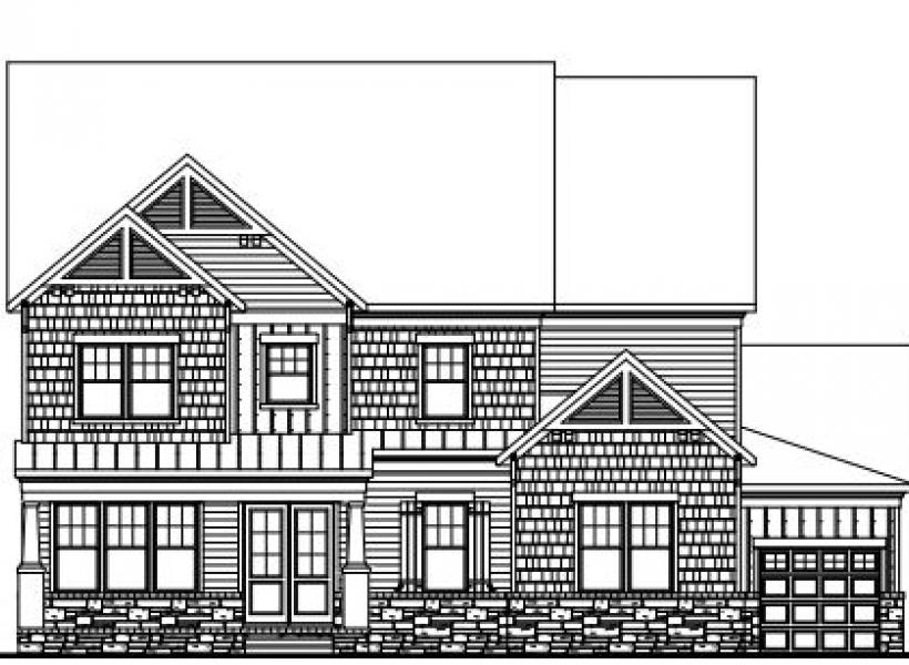The Jefferson at Braemore, Cary - Elevation B