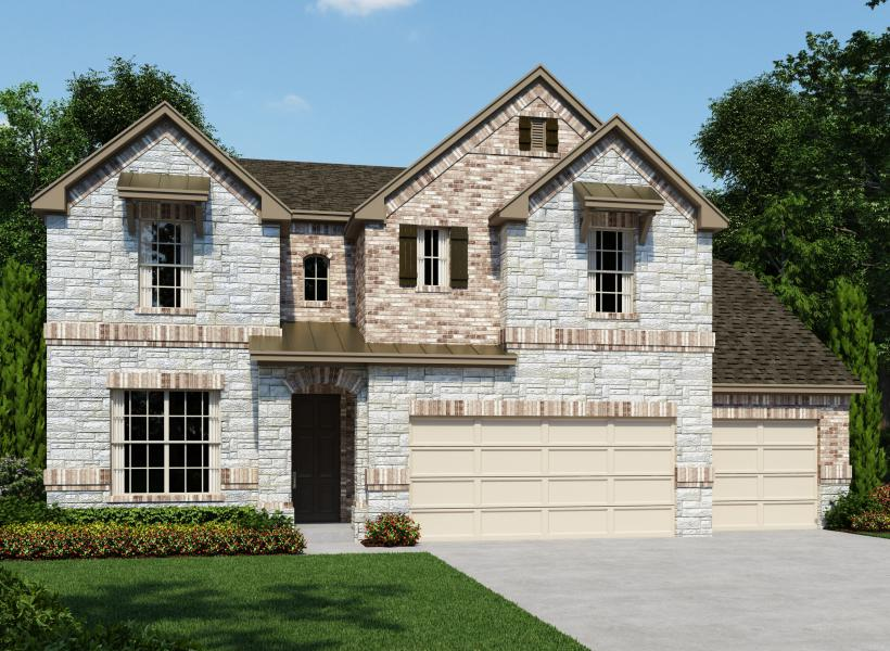 Guillermo new home plan for the estates at stone crossing House plans san antonio
