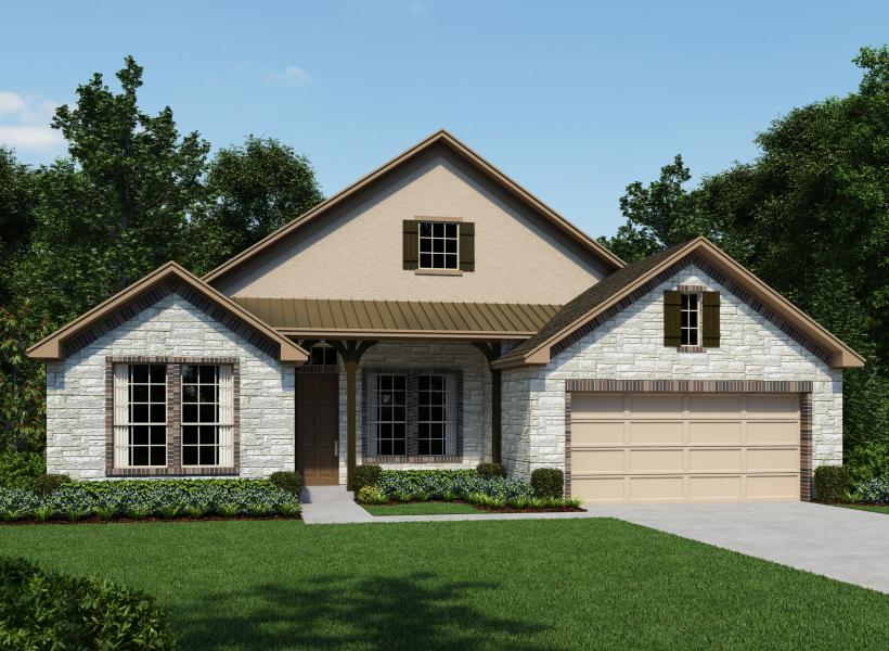 Lebey New Home Plan For Woods Of Boerne Community In San