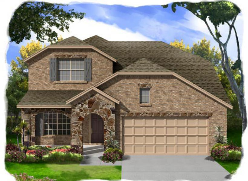 Coleman new home plan for white rock community in killeen for Lrk house plans