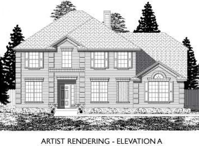 Danbury,  - Elevation A