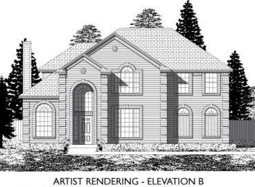 Hemphill,  - Elevation B