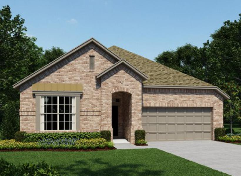 Pecos New Home Plan For Bluffview Community In Dallas