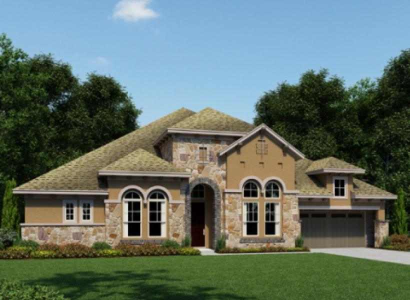 Tamarind new home plan for cypress creek lakes 80ft for Houston house elevation
