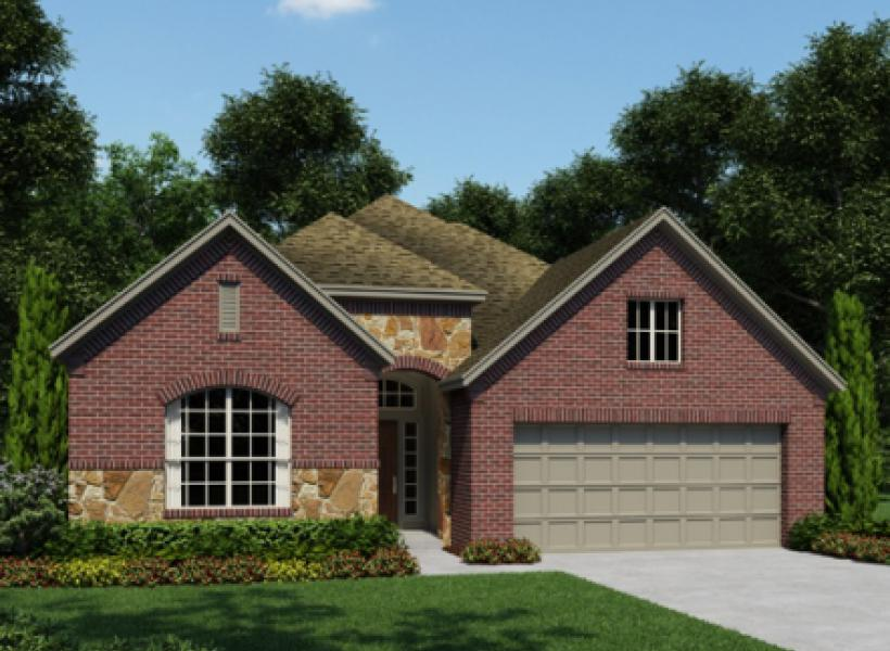Addison new home plan for cypress creek lakes 50ft for Houston house elevation
