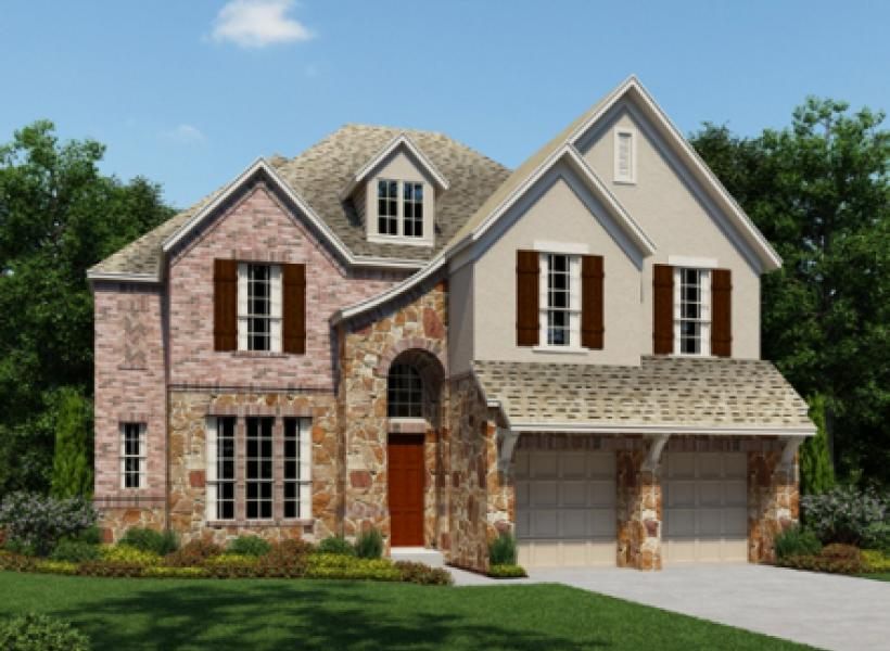 Christopher new home plan for creekside ranch 60ft for Houston house elevation