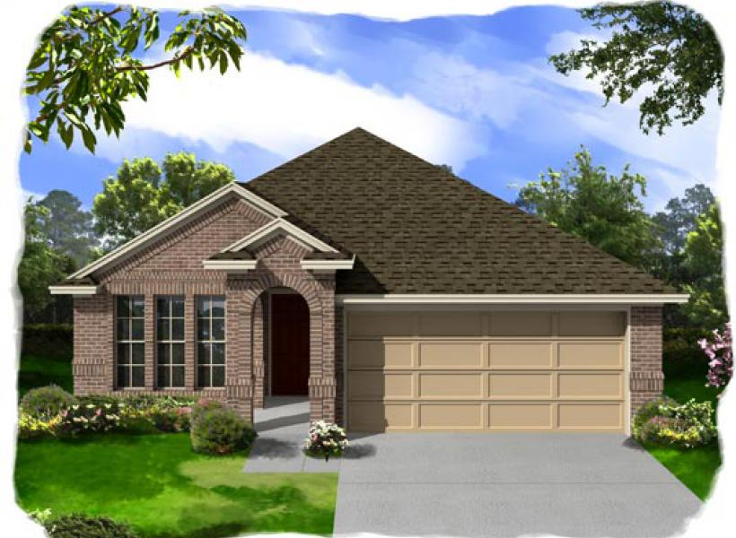 Martin new home plan for creekside ranch 50ft community in for Houston house elevation