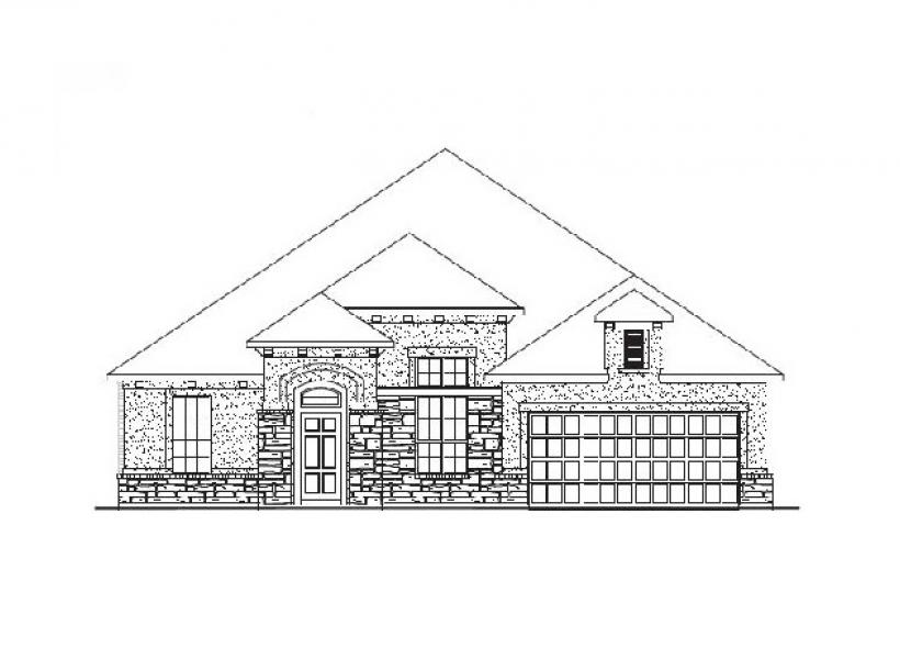 Burleson New Home Plan For Creekside Ranch 60FT Community